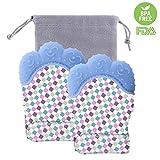 FOKOM Beißhandschuh, FOKOM 2St. Wasserdicht Beiß Handschuh Zahnen Beißring Fäustlingen für Babys