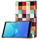 KATUMO Huawei MediaPad M5 8.4 Hülle Case - Ultra Slim Leder Tasche Hülle Skin für Huawei MediaPad M5 8.4 Zoll 2018 Modell Tablet PC Schutzhülle Smart Case Cover mit Standfunktion - KP Magic Cube