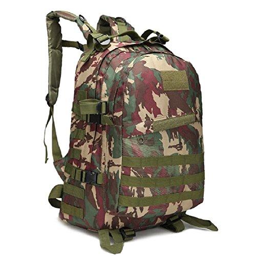 Z&N Military Pack Tarnung taktische Tasche Schultertasche wasserdichte Oxford Bergsteigen Tasche Outdoor Rucksack Sport Rucksack Camping Rucksack Wanderrucksack Multifunktions Großraum Rucksack N