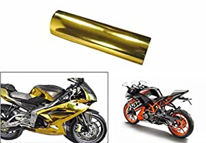 Speedwav 4mtr Bike Wrap Sheet Golden Chrome-KTM RC 390