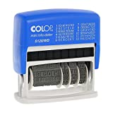 Colop S120/WD MiniInfoDater Schrifthöhe 4 mm Kissen blau/rot 12 Texte