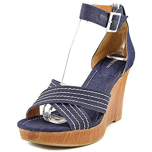 Style & Co Raynaa Femmes Toile Sandales Compensés Indigo
