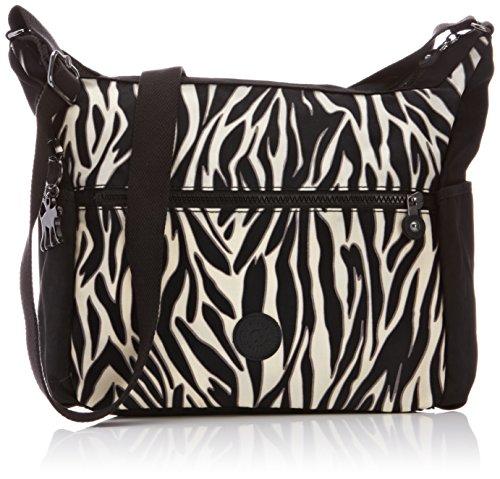 Kipling ALENYA TT Zebra Block K10623A37 Damen Schultertaschen 32x32x15 cm (B x H x T), Mehrfarbig (Zebra Block A37) (Nylon Zebra Handtasche)