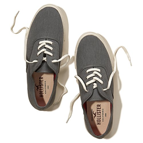 new-hollister-grey-lace-up-trainers-converse-uk-7-men-slip-ons