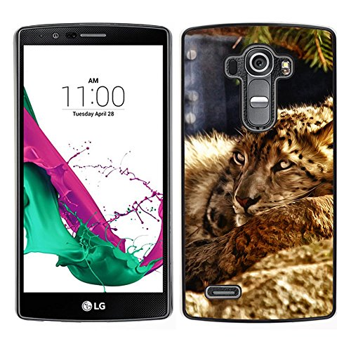 Plastic Shell Protective Case Cover || LG G4 || Leopard Furry Beast Nature Animal Cat @XPTECH Furry Leopard