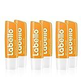 Labello Mango Shine im 1er Pack (1 x 4,8 g), Lippenpflegestift mit zartem Glanz und Schimmerpigmenten und Mangoaroma, Lippenpflege ohne Mineralöle