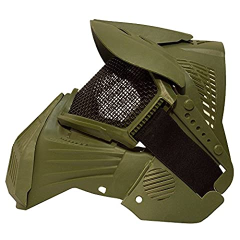 BTAMZ Airsoft Pro Full Face Mask with Safety Metal Mesh Goggles Protection