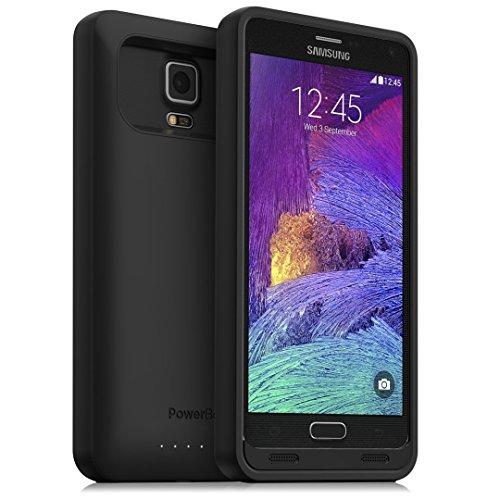 Powerbear Caso di Batteria Note 4 [4500 mAh] Caricabatteria Esterno ad Alta Capacità per Samsung Galaxy Note 4 (140% Supplementare) - Nero [24 Mesi di Garanzia e Protezione dello Schermo Incluso]