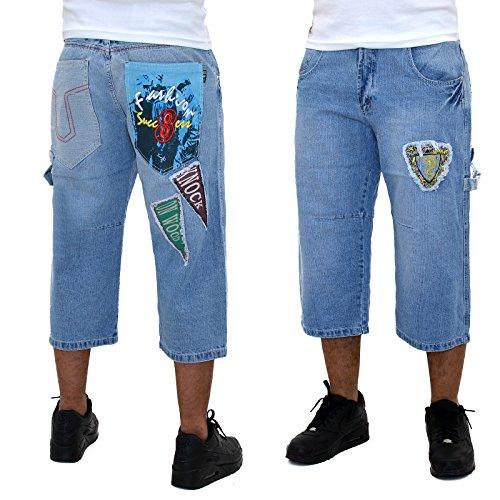 Herren Caprihose Herren Bermuda Jeans Herren Cargo Capri Hosen Herren  Sommer Hosen - B126 B126 ...