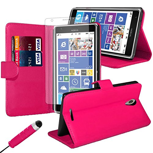 ijq-pink-premium-pu-leather-flip-case-wallet-cover-for-nokia-625-with-card-slots-and-built-in-stand-
