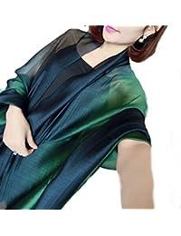 LadyMYP 195cm*65cm Silk Baumwolle gemischt Schal Stola mit Farbverlauf
