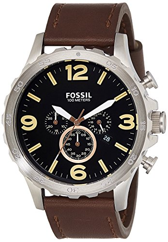 Fossil End-of-season Nate Chronograph Black Dial Men's Watch - JR1475I