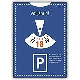 1 Geburtstagskarte: Geburtstagskarte im Parkuhr Look 18 Volljährig! Jetzt kannst Du tun und lassen.