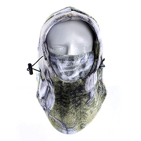 Auxma Warme Winter im Freien schützende Hut im Freiensport Ansatzschablone volle Gesichtsmaske (C)