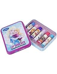 Disney Frozen Lip Smacker Reine Des Neiges Coffret Cadeau Baumes à Lèvres en Boîte Métal 6 Pièces