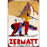 YOMIA Zermatt Poster Wandschild Metall Blechschilder Retro