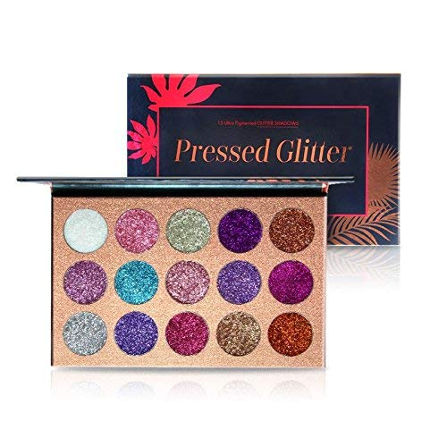 BEAUTY GLAZED 15 Colors Eyeshadow Palette Long-lasting Eye Shadow Easy to Wear Eyeshadows Shimmer Natural Makeup Palette