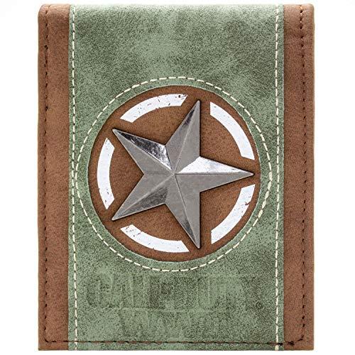 Cartera de Call of Duty WWII Aliados Emblema Estrella Negro