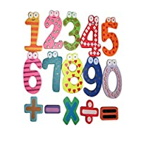 Winkey Baby Children Wooden Numbers Toy, Magnetic Letters Math Set Wooden Digital Mathematics Count Educational Toy, Best Gift For 0 1 2 3 4 5 6 7 + Years Old Baby Kids (A)
