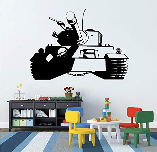 Geiqianjiumai Armee Panzer Wandaufkleber Kunst Kinderzimmer Wohnkultur Junge Armee Thema Tapete 42X58 cm