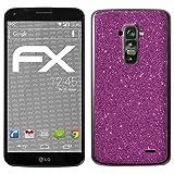 atFolix LG G Flex Skin FX-Glitter-Rich-Lilac Designfolie Sticker - Reflektierende Glitzerfolie