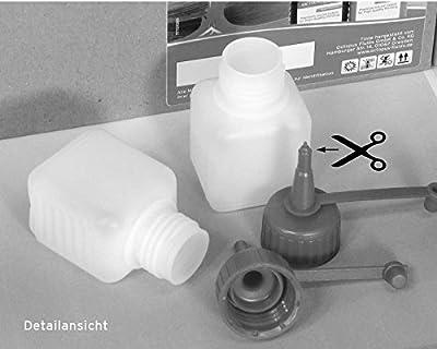 10 x 50 ml Kunststoffflaschen, Plastikflaschen aus HDPE mit roten Spritzverschlüssen bzw. Tropfverschlüssen, z.B. für E-Liquids / E-Zigaretten, chemikalienresistent von Octopus®