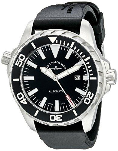 Zeno Divers Men's 48mm Automatic Black Rubber Sapphire Glass Watch...