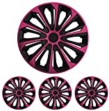 """Radkappen Radblenden Radzierblenden Strong Pink 15 Zoll 15"""" R15 universal passend für fast alle Fahrzeuge mit Standardstahlfelgen z.B. Opel"""