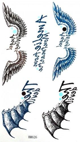 Spestyle body art ticker disegno del tatuaggio ali angolo molto carino adesivi tatuaggi temporanei
