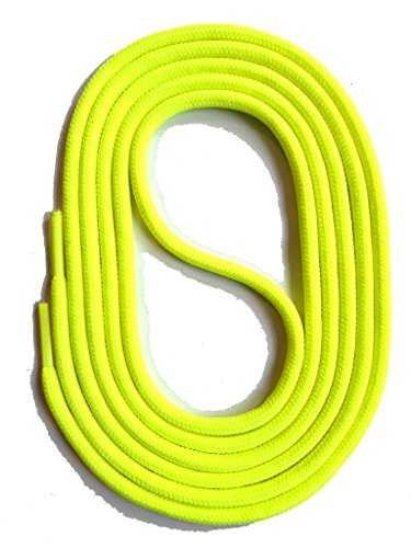 SNORS LACCI COLORATI rotondi NEON GIALLO 130cm 51.1' 2-3 mm STRINGHE PER SCARPE STRINGHE COLORATE