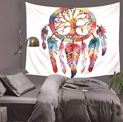 Qhrdp Tapiz De Elefante Collares De Viento Mandala Impreso Colgante De Pared...