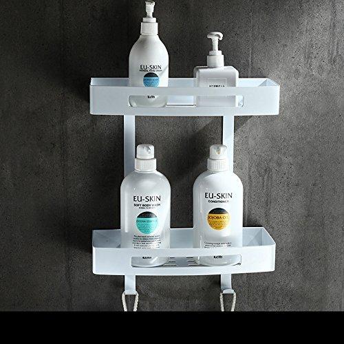 Weiß Handtuchhalter Edelstahl Badetuch Rack Stacks Wc Toilettenpapier Rack, Double Deck Lange Platz Warenkorb -