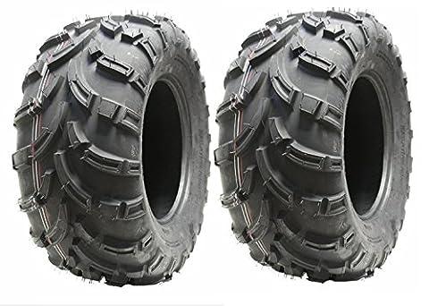 Jeu de 2 pneus Quad 25X10-12 6ply pneus ATV 7psi 25 10.00 12 set E route marquée légale