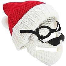 Severyn Gorro Navideño de Punto con Diseño de Papa Noel Santa Claus con  Gafas y 8158f7144f4