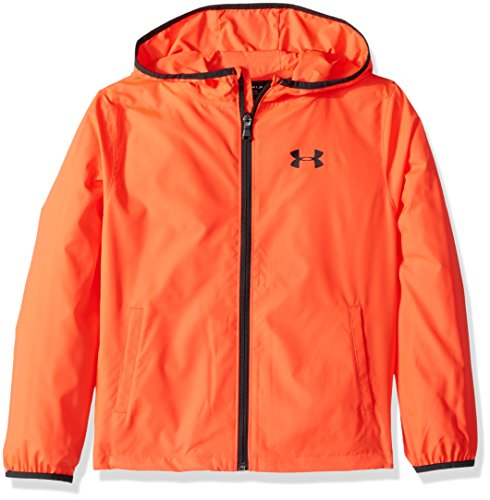 Under Armour Jungen Sack Pack Jacke Warm Up Top, Jungen, 1306165, Neon Coral (985)/Glow Orange, Youth XL
