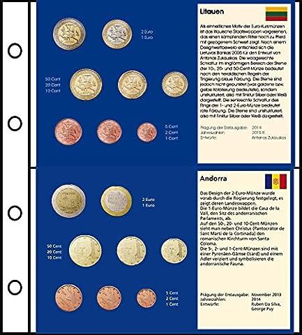 Piece 2 Euros Vatican - 6 pièces comprimés EUR-forme de 5 pays