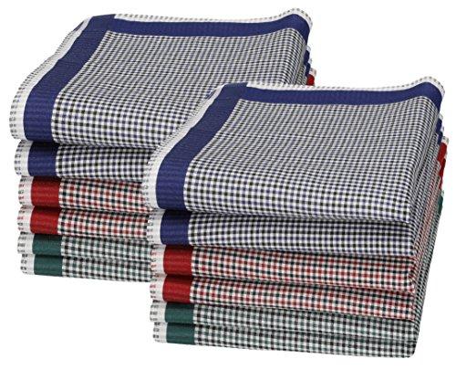 Betz 12 Stück Damen Stoff Taschentücher Set Chanelle 1 Größe 30x30 cm 100% Baumwolle Farbe Dessin 129 -