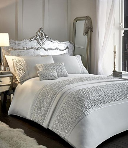 dd0e9d080dd Homemaker Luxury bedding sets grey or white with silver sequin sparkle