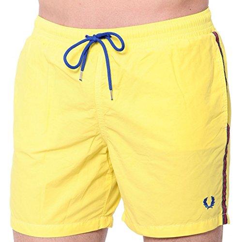 roberto-cavalli-short-de-bain-homme-jaune-jaune-l