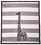 Arus, Gray Giraffe, coperta per bambini/copertina per neonati, bebè, morbida da coccolarsi, senza sostanze nocive, ipoallergenico, 57% cotone, 75x100 cm, 450 gr/cm²