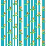 Berlintapete - Wallpaper On Demand - Designtapete - Geometrisch - Floral - Blümchen Und Streifen Nr. 14734