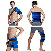 Large flexible Gel Ice Pack & Wrap mit elastischen Gurten für Hot Cold Therapie–Ideal für Verstauchungen, Muskelschmerzen... preisvergleich bei billige-tabletten.eu
