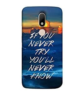 TAKKLOO Designer Back Cover For Motorola moto m