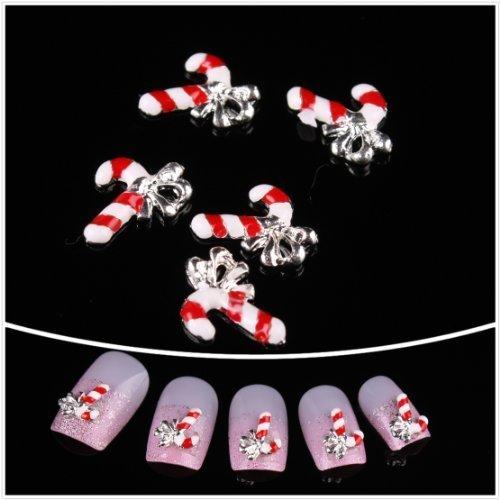 Nails gaga Alloy Nail Art /Glitters Rhinestones Tips / Diy Nail Decoration 10pcs / N1088 by Nails gaga