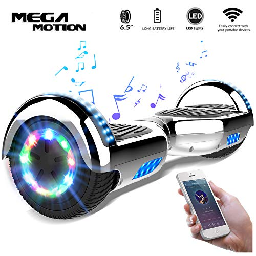 Mega Motion Self Balance Scooter6,5-2018 Elektro Scooter E-Skateboard - Scooter - UL zertifizierten 2272 LED - Räder mit LED Licht -Bluetooth Lautsprecher - 700W Motor
