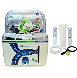 A B Traders Aquafresh Swift 15 LTR Mineral Ro+Uv+Tds Adjuster and Uf Water Purifier -