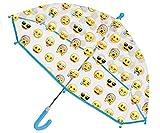 Emoji Regenschirm Taschenschirm Emoticon Smiley Winky 48cm durchsichtig
