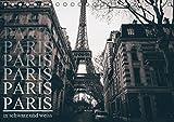 Paris - in schwarz und weiss (Tischkalender 2019 DIN A5 quer): Stillvoller schwarz weiss Kalender von Paris (Monatskalender, 14 Seiten ) (CALVENDO Orte)