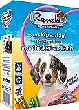 Renske - Hundefutter - Nassfutter Hund - Welpen - Frisches Huhn, Lamm & Reis - Glutenfrei - 10 x 395 gr