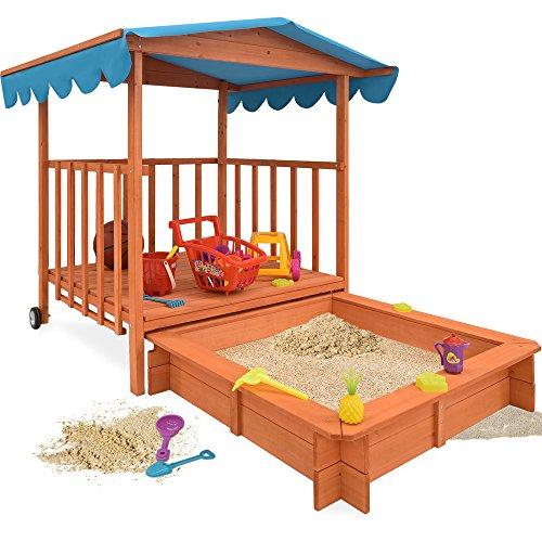 Sandkasten Dach Spielveranda Holz Spielhaus Sonnenschutz Deckel Sandbox